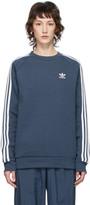 adidas Blue 3-Stripes Sweatshirt
