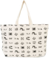 Vans cartoon print tote bag