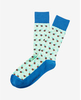 Express pineapple print dress socks