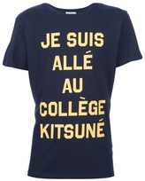 Kitsune Tee Je Suis... - Yellow/Navy T-Shirt