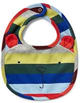 Gap Crazy stripe favorite bear bib
