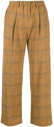 Forte Forte Check Cropped Trousers