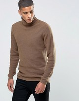 Selected Ribbed Roll Neck