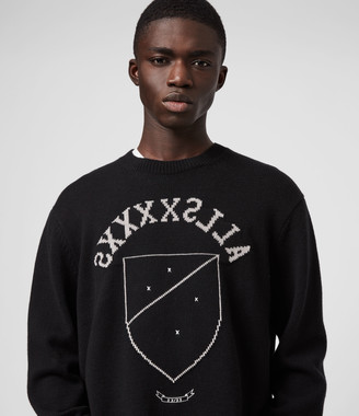 AllSaints Shields Crew Sweater