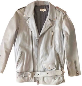 Paul & Joe Blue Leather Leather Jacket for Women
