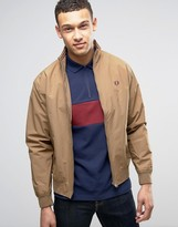 Fred Perry Brentham Mesh Lined Jacket In Tan