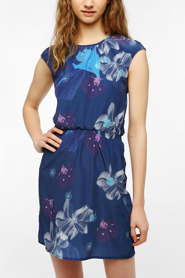 Alice Ritter Piplette By Silky Floral Crew-Neck Dress
