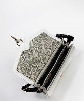 Rebecca Minkoff white crosshatch leather 'Hudson' crossbody bag