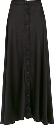 AMIR SLAMA Silk Long Skirt