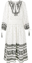 Zimmermann embroidered long sleeve dress - women - Linen/Flax/Polyester - 0