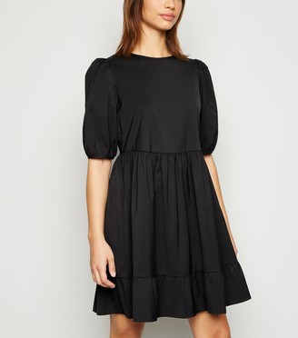 New Look Poplin Puff Sleeve Smock Dress