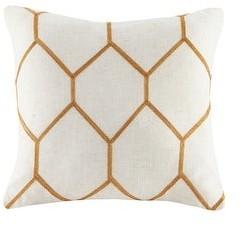 Madison Home USA Asher Metallic Geo Embroidered Pillow Pair