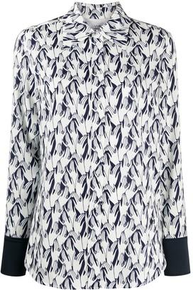 Victoria Victoria Beckham Hand Print Long-Sleeved Shirt