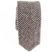 Black Nut Brown Knitted Cashmere Tie