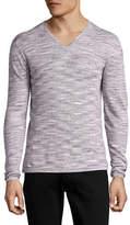 John Varvatos Star U.S.A. Luxe Linen V-Neck Sweater