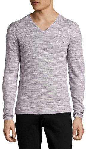John Varvatos Star U.S.A. Space Dyed V-Neck Sweater