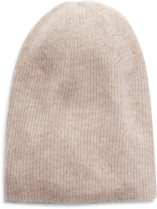 Halogen Ribbed Cashmere Beanie