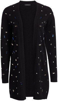 Saks Fifth Avenue Scattered Jewel Wool Duster Cardigan