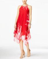 INC International Concepts Printed Handkerchief-Hem Shift Dress, Only at Macy's