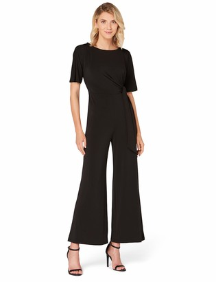 Amazon Brand - TRUTH & FABLE Women's Evening Jersey Short Sleeve Jumpsuit