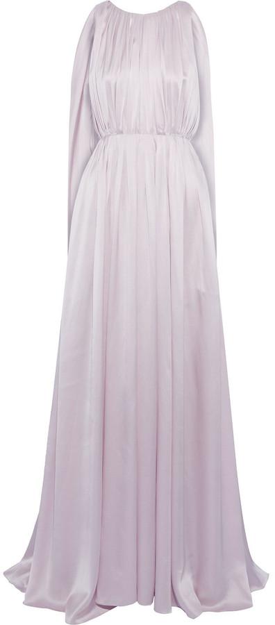Roksanda Aurelie Open-back Draped Silk-charmeuse Gown
