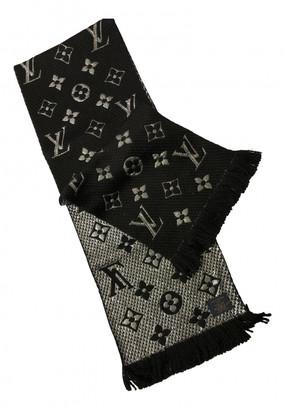 Louis Vuitton Logomania Black Wool Scarves