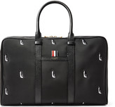 Thom Browne - Leather-trimmed Penguin-embroidered Nylon Holdall