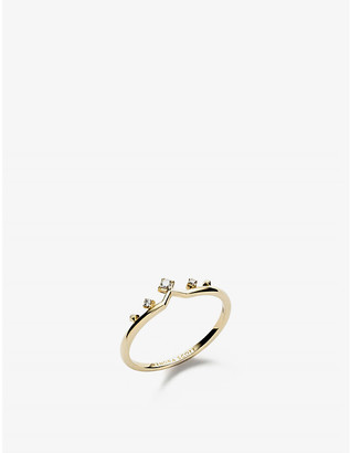 Kendra Scott Michelle 14ct yellow-gold and diamond ring
