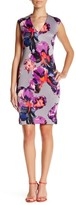 Donna Ricco DR21010 V-Neck Floral Sheath Dress