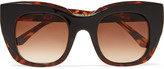 Thierry Lasry Intimacy square-frame printed acetate sunglasses