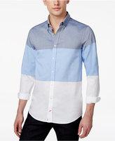 Tommy Hilfiger Men's Slim-Fit Colorblocked Long-Sleeve Shirt