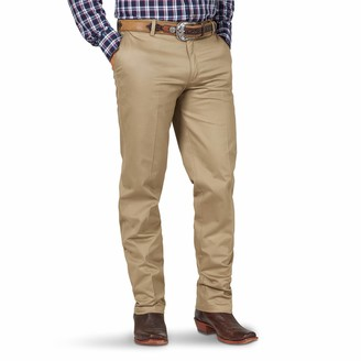 Wrangler Men's Big & Tall Riata Flat Front Relaxed Fit Casual Pant