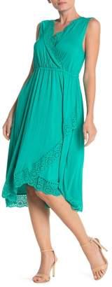 Spense Eyelet Trim Sleeveless Dress