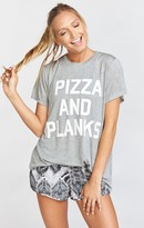 MUMU Oliver Tee ~ Pizza and Planks Graphic