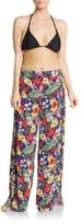 OndadeMar Floral Print Wide-Leg Pants