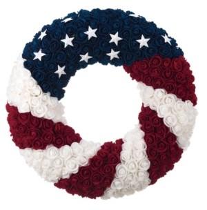 Transpac Trans Pac Multicolor 4th of July Patriotic Wreath