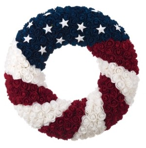 Transpac Trans Pac Multicolor 4th of July Patriotic Wreath
