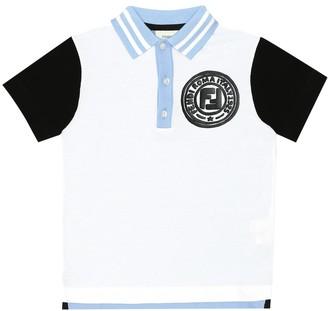 Fendi Kids Cotton-pique polo shirt