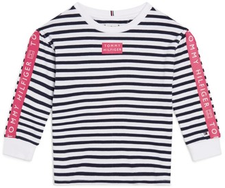 Tommy Hilfiger Junior Stripe Print Logo T-Shirt