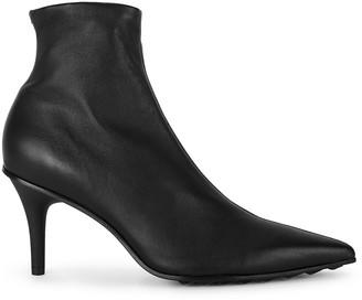 Rag & Bone Beha 75 black leather ankle boots