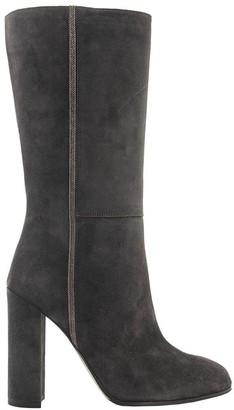 Fabiana Filippi Dora Leather And Shearling Boots