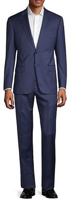 Armani Collezioni G-Line Fit Check Virgin Wool Suit