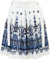 Sacai patterned skirt - women - Polyester/Cupro/Cotton - 2