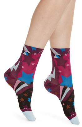 Hysteria By Happy Socks Viola Star Ankle Socks