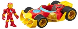 Hasbro Playskool Heroes Marvel Super Hero Adventures Iron Man Speedster, 5-Inch Figure and Vehicle Set, Collectible Toys for Kids Ages 3 and Up