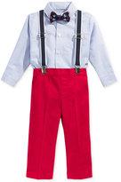 Nautica 4-Pc. Bow Tie, Suspenders, Shirt Bodysuit & Pants Set, Baby Boys (0-24 Months)