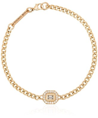 Zoë Chicco 14kt Yellow Gold Emerald Cut Diamond Bracelet