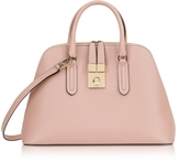 Furla Moonstone Milano Medium Leather Handle Bag