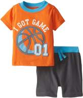 Bon Bebe Baby-Boys Newborn I Got Game 2 Piece Short Set