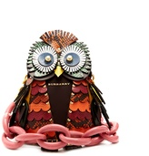 Burberry Owl snakeskin, leather and suede bag